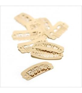 Balmain DoubleHair clips 10pcs beige